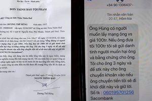 Lãnh đạo Văn phòng đoàn ĐBQH 3 tỉnh bị nhắn tin tống tiền