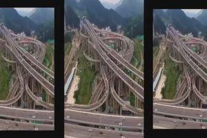 Giao lộ như 'ma trận' ở Trung Quốc khiến nhiều người choáng váng