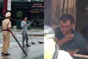 Khống chế đối tượng ngáo đá cầm dao chém người đi đường, tấn công CSGT