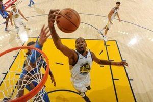 Chùm ảnh: Golden State Warriors khiến 'Thần sấm Oklahoma City Thunder tắt điện'