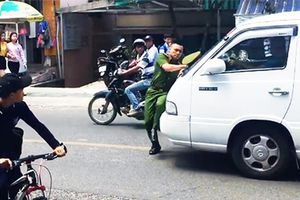 Tài xế lao xe vào cảnh sát tại Đà Lạt ra đầu thú