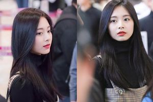 Rũ bỏ hình tượng ngây thơ, Tử Du (Twice) tóc đen môi đỏ già đi trông thấy tại sân bay