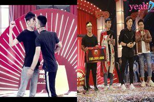 Cặp đôi thí sinh nam bạo gan 'khóa môi' trên sân khấu 'ẵm trọn' 100 triệu ngay tập 1 của 'Thách thức danh hài'