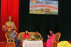 Hội Phụ nữ Yên Mô tổ chức diễn đàn 'Phòng, chống bạo lực gia đình'
