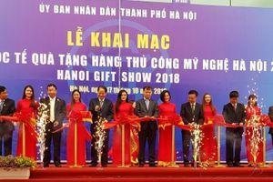 Khai mạc Hội chợ quốc tế quà tặng hàng thủ công mỹ nghệ Hà Nội năm 2018