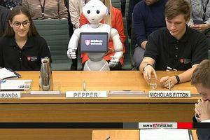 Người máy lần đầu diễn thuyết trước Quốc hội Anh