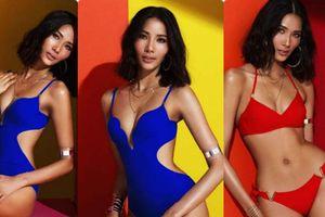 Khó nhận ra Á hậu Hoàng Thùy tăng 6 kg mặc bikini siêu gợi cảm