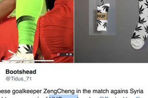 'Quảng cáo' cần sa, thủ môn tuyển Trung Quốc mang họa