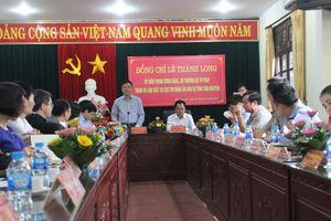 Làm việc tại Thái Nguyên, Bộ trưởng Lê Thành Long cho biết công tác THADS đang được đặc biệt quan tâm
