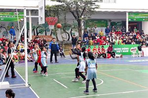 88 trường tranh tài ở giải bóng rổ Học sinh tiểu học Hà Nội 2018