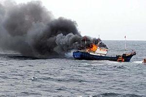 Quảng Ngãi: Tàu cá phát nổ tại đảo Lý Sơn, 11 thuyền viên thương vong