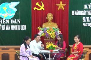 Hội Liên hiệp Phụ nữ huyện Kim Sơn tổ chức diễn đàn 'Phụ nữ với văn minh du lịch' và 'Phòng chống xâm hại tình dục trẻ em'