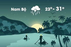 Thời tiết ngày 19/10: Nam Bộ mưa lớn và dông mạnh