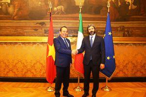 Phó Thủ tướng Trương Hòa Bình gặp Chủ tịch Hạ viện Italy