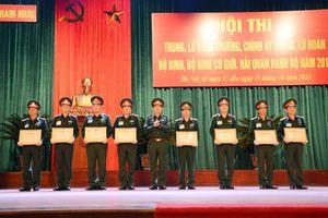 Bế mạc hội thi cán bộ cấp trung, lữ đoàn năm 2018