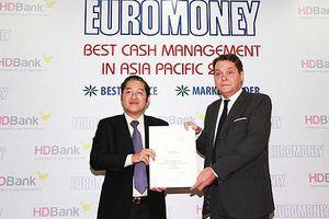 HDBank đạt giải ngân hàng có dịch vụ quản lý tiền mặt tốt nhất Châu Á
