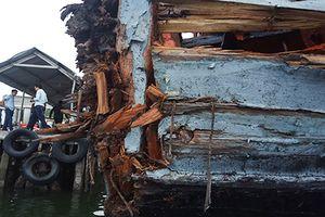 Tàu cá ngư dân bị 'tàu lạ' đâm va ở Hoàng Sa đã về đất liền