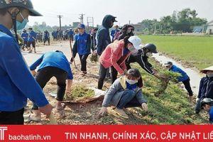 3.000 lượt ĐVTN Cẩm Xuyên giúp các địa phương xây dựng nông thôn mới