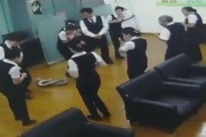 Trăn khủng bất ngờ rơi giữa phòng họp khiến nhân viên chạy tán loạn
