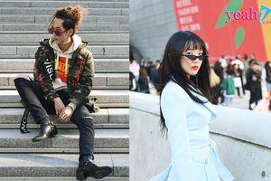 Thần thái không kém gì chị, em gái Hari Won thu hút ống kính nhiếp ảnh tại Tuần lễ thời trang Seoul 2018