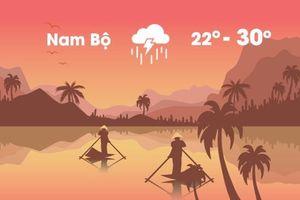 Thời tiết ngày 20/10: Miền Nam mưa lớn diện rộng