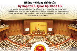Những nội dung chính của Kỳ họp thứ 6 của Quốc hội
