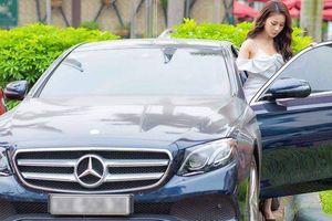 'Quỳnh búp bê' Phương Oanh sang chảnh bên Mercedes-Benz E250