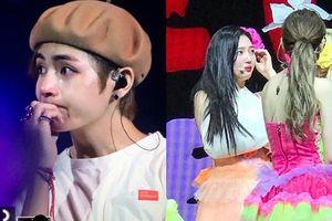 Cùng trong một ngày, cả V(BTS) và Joy (Red Velvet) đều khóc nức nở trên sân khấu vì…