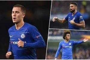 Đội hình dự kiến của Chelsea trước MU: Hazard sát cánh Giroud
