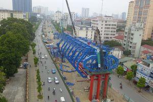 Hình hài đường vành đai 2 gần 10.000 tỷ 'giải cứu' giao thông Thủ đô sau nửa năm thi công