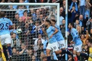 Đại thắng Burnley 5-0, Man City độc chiếm ngôi đầu bảng