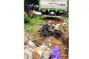 Xe tải mất lái đâm vào nhà dân làm hai vợ chồng thiệt mạng