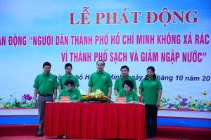 TP Hồ Chí Minh phát động nhân dân không xả rác vì thành phố sạch và không ngập nước