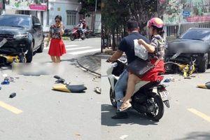 Thực hư việc nữ tài xế ô tô gây tai nạn, bỏ mặc nạn nhân, nhờ người thân chở về