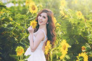 Hot girl Cần Thơ khiến fan like mỏi tay khi hóa công chúa xinh đẹp trong rừng hoa hướng dương