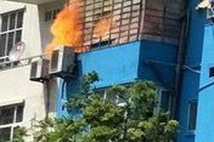 Clip: Cháy lớn gần khu Metro Hà Đông