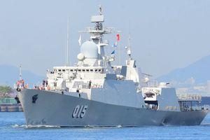 Tàu hộ vệ tên lửa 015-Trần Hưng Đạo thăm Trung Quốc
