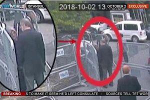 Công bố hình ảnh Khashoggi vào lãnh sự quán do camera an ninh ghi lại