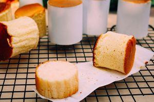Cần chi lò nướng, làm bánh bông lan bằng chảo chống dính vẫn ngon như thường