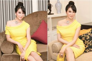 Thanh Mai khoe vai trần gợi cảm tại lễ vinh danh Sen Vàng Đất Việt 2018