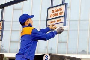 Giá xăng giảm 224 đồng/lít