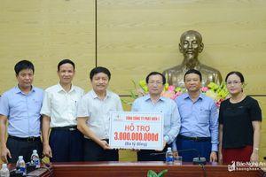 Tổng công ty phát điện 1 hỗ trợ 3 tỷ đồng giúp người dân khắc phục hậu quả mưa lũ