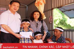 Hiệp hội Doanh nghiệp Hà Tĩnh tặng quà gia đình khó khăn