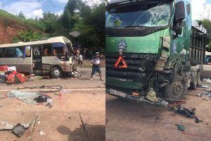 Tai nạn nghiêm trọng làm 10 người bị thương nặng: Xe đầu kéo đi tốc độ cao, lấn làn