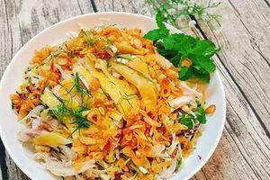 Học theo vợ đảm làm món gỏi gà bắp cải giòn ngon ăn hoài không chán