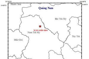 Quảng Nam: Hai trận động đất xảy ra liên tiếp