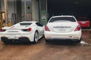 Hai 'bạch mã' Ferrari 488 Spider và Mercedes-Maybach S450 4Matic sánh đôi tại Bình Phước
