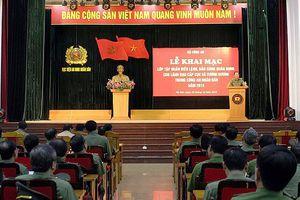 Khai mạc lớp tập huấn điều lệnh, quân sự cho lãnh đạo cấp Cục và tương đương