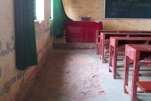 Trường lún và nứt, gần 250 học sinh nơm nớp lo sợ