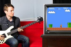 Chơi nhạc nền, âm thanh trò Mario chỉ với cây đàn guitar điện